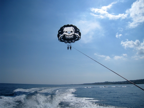 Parasailing over the Med